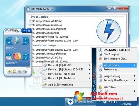 Skärmdump DAEMON Tools Lite för Windows 10