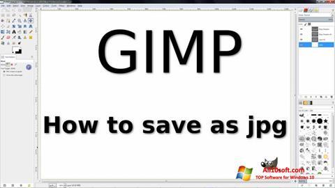 Skärmdump GIMP för Windows 10