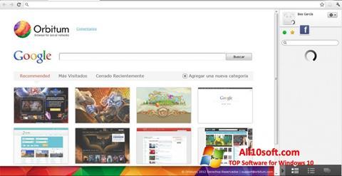 Skärmdump Orbitum för Windows 10