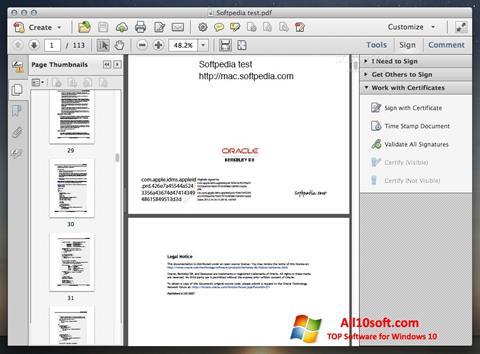 Skärmdump Adobe Acrobat för Windows 10