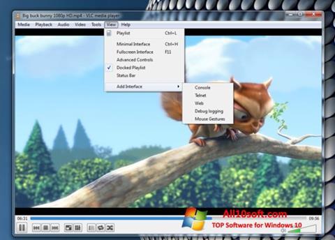 Skärmdump VLC Media Player för Windows 10