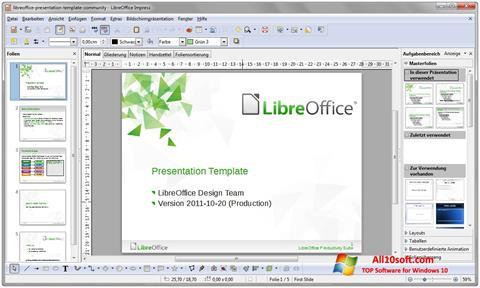 Skärmdump LibreOffice för Windows 10