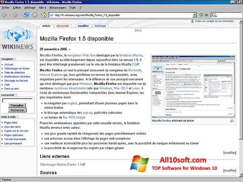 Skärmdump Mozilla Firefox för Windows 10