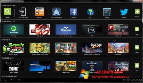 Skärmdump BlueStacks för Windows 10