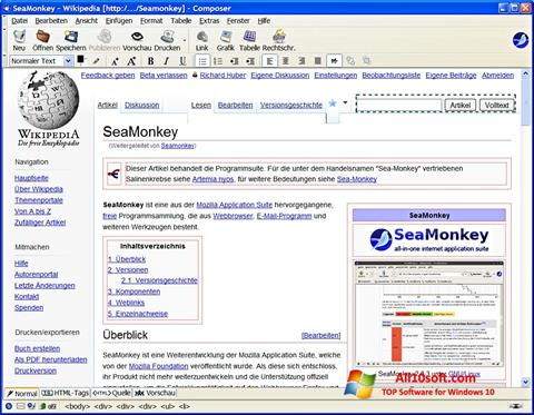 Skärmdump SeaMonkey för Windows 10