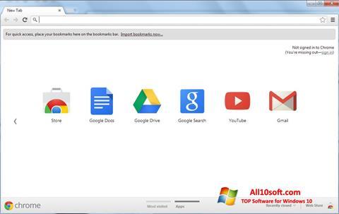 Skärmdump Google Chrome för Windows 10