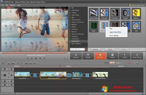 Skärmdump Movavi Video Suite för Windows 10