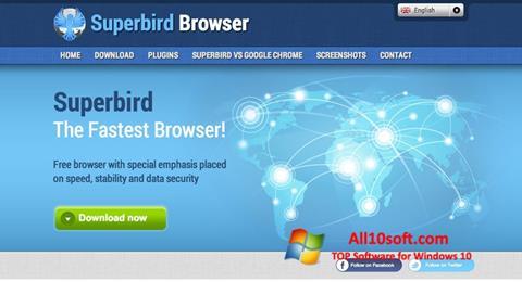 Skärmdump Superbird för Windows 10