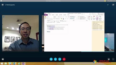 Skärmdump Skype for Business för Windows 10