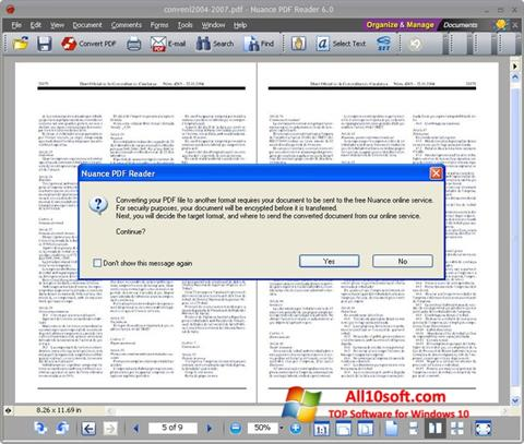 Skärmdump Nuance PDF Reader för Windows 10