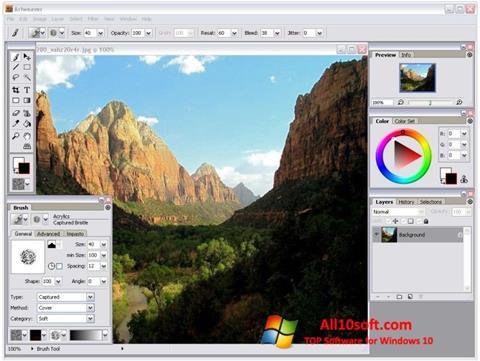 Skärmdump Artweaver för Windows 10