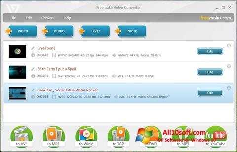 Skärmdump Freemake Video Converter för Windows 10