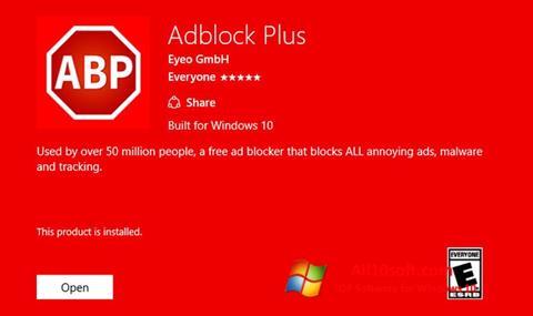 Skärmdump Adblock Plus för Windows 10