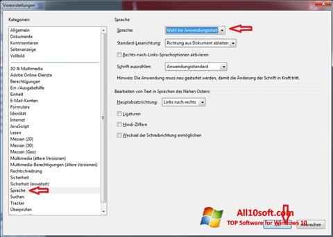 Skärmdump Adobe Reader för Windows 10
